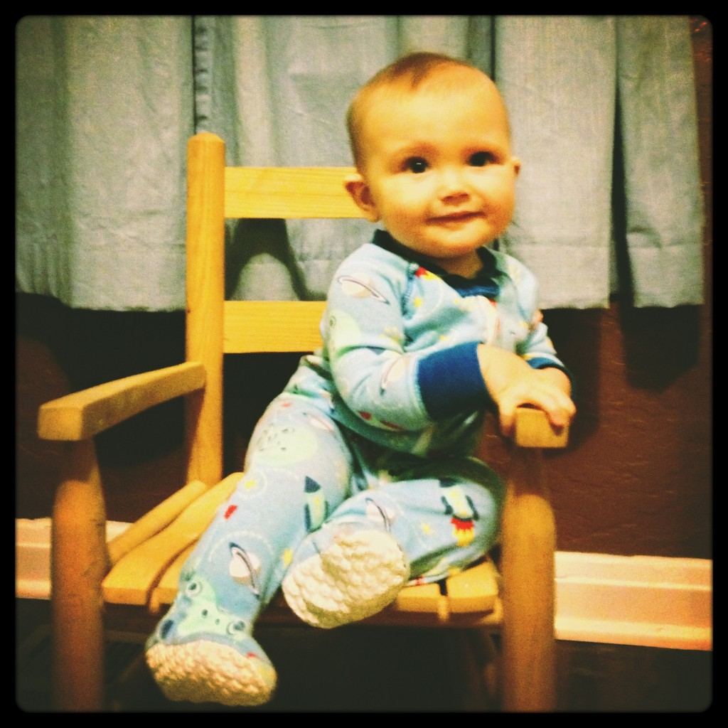Felix on rocking chair
