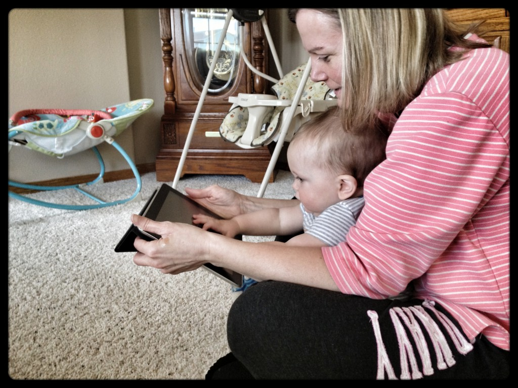 grandma teaches felix how to ipad