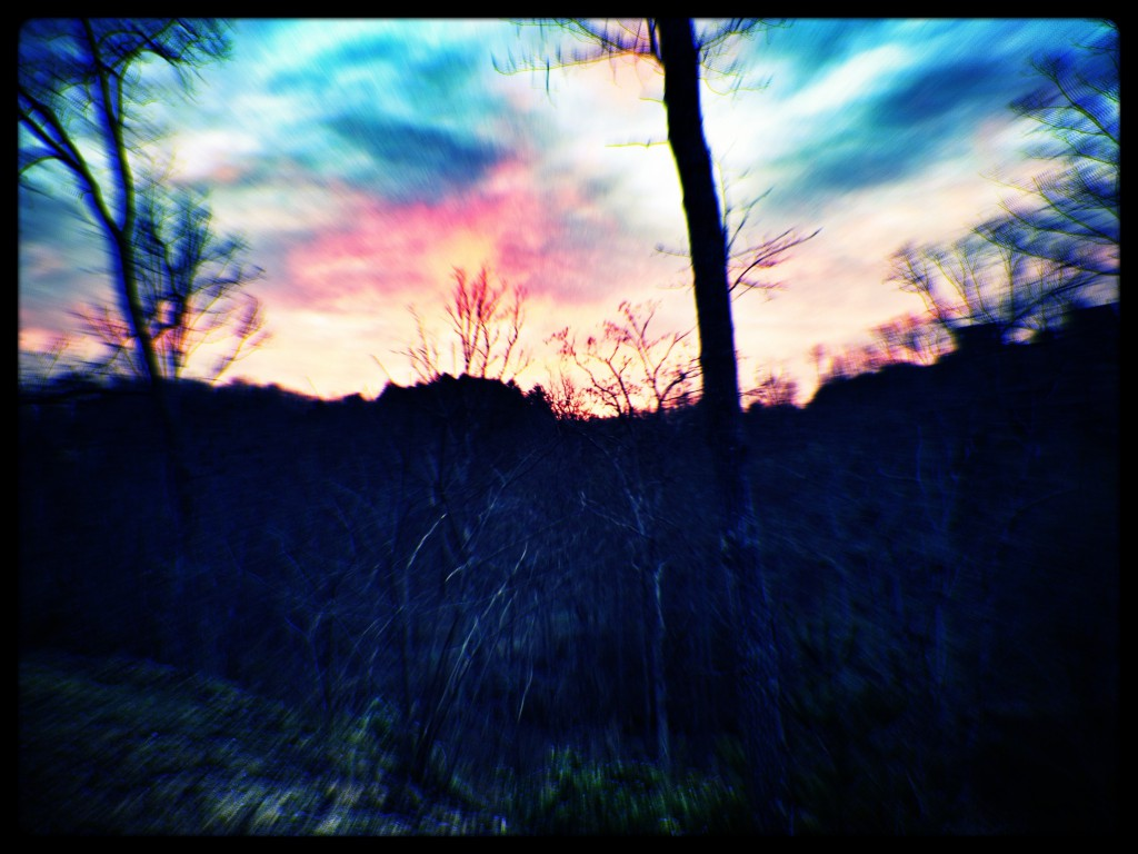 A beautiful sunset filtered by snapseep and kitcam