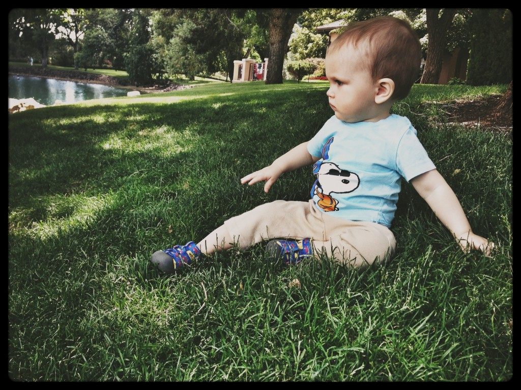 Felix modelling on the grass