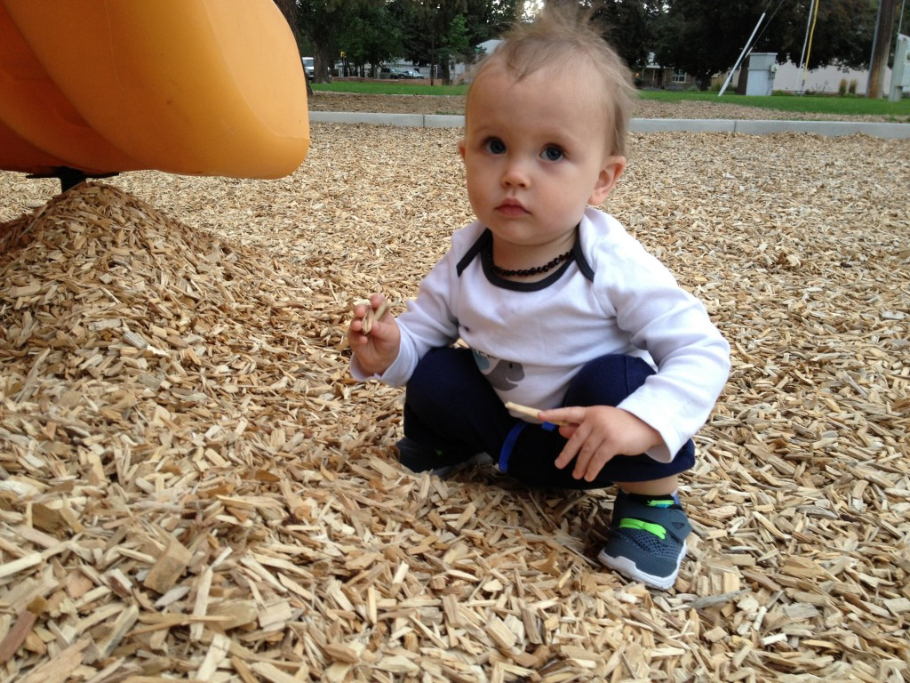 he really loves the playground