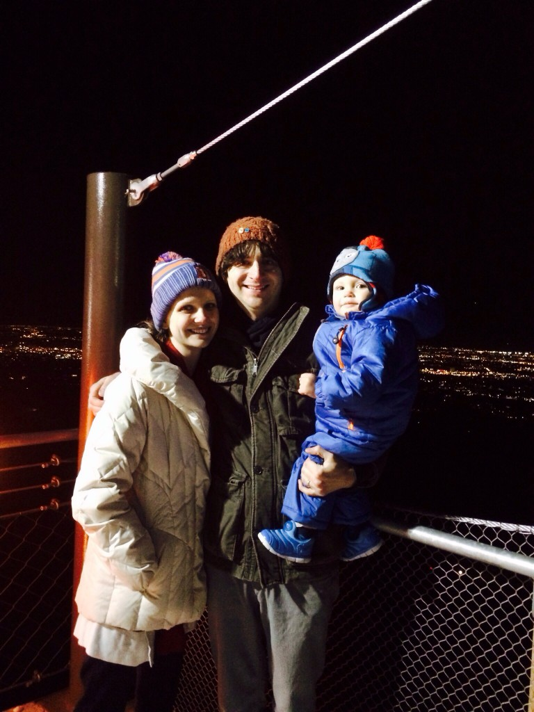 Colleen, Henrie and Felix enjoying the gorgeous view of the city