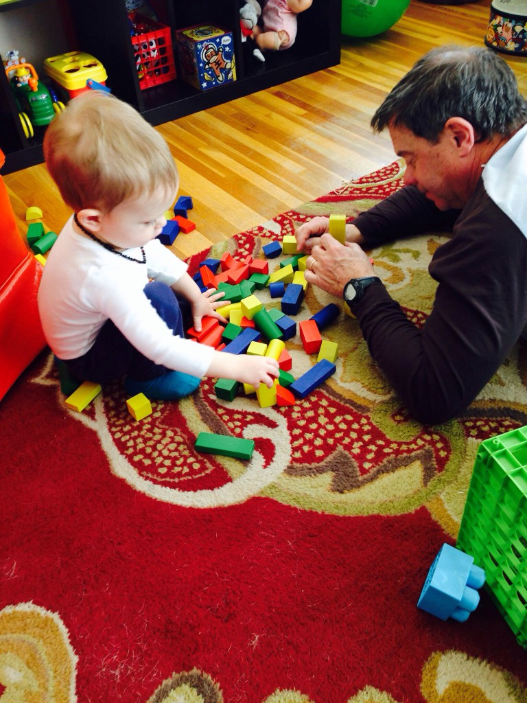 Playing blocks