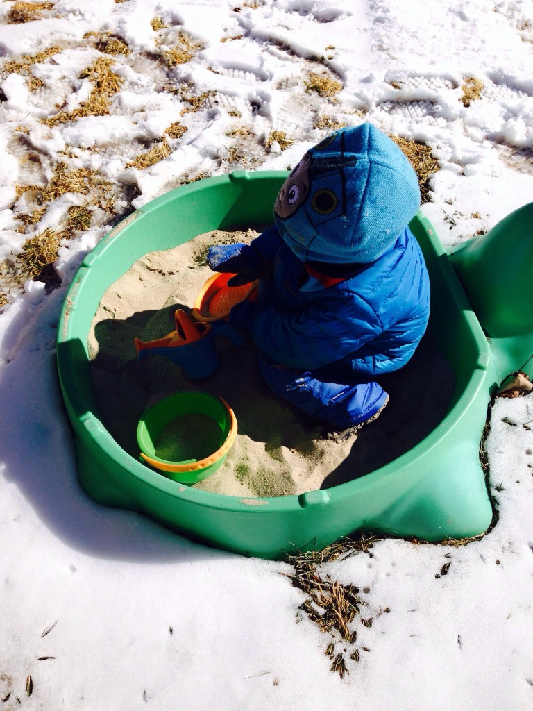 Felix says sand is better with snow