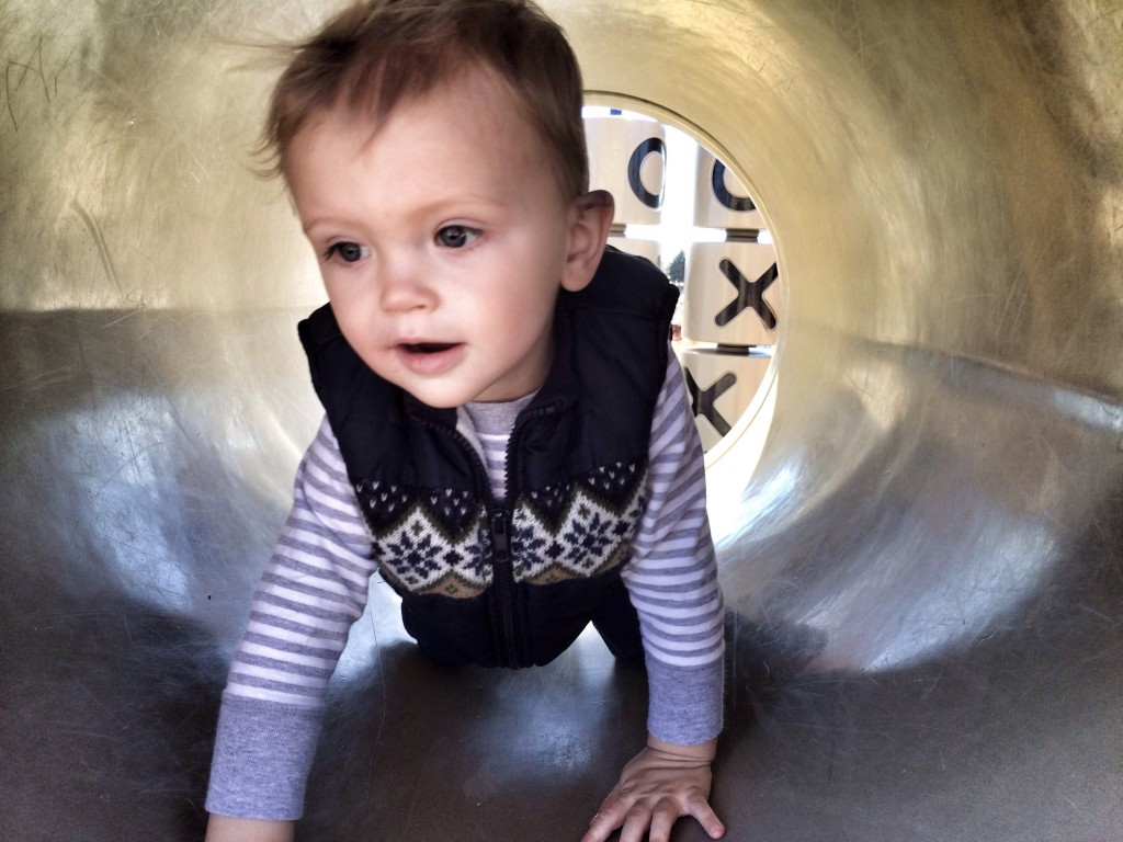 Crawling through the tube