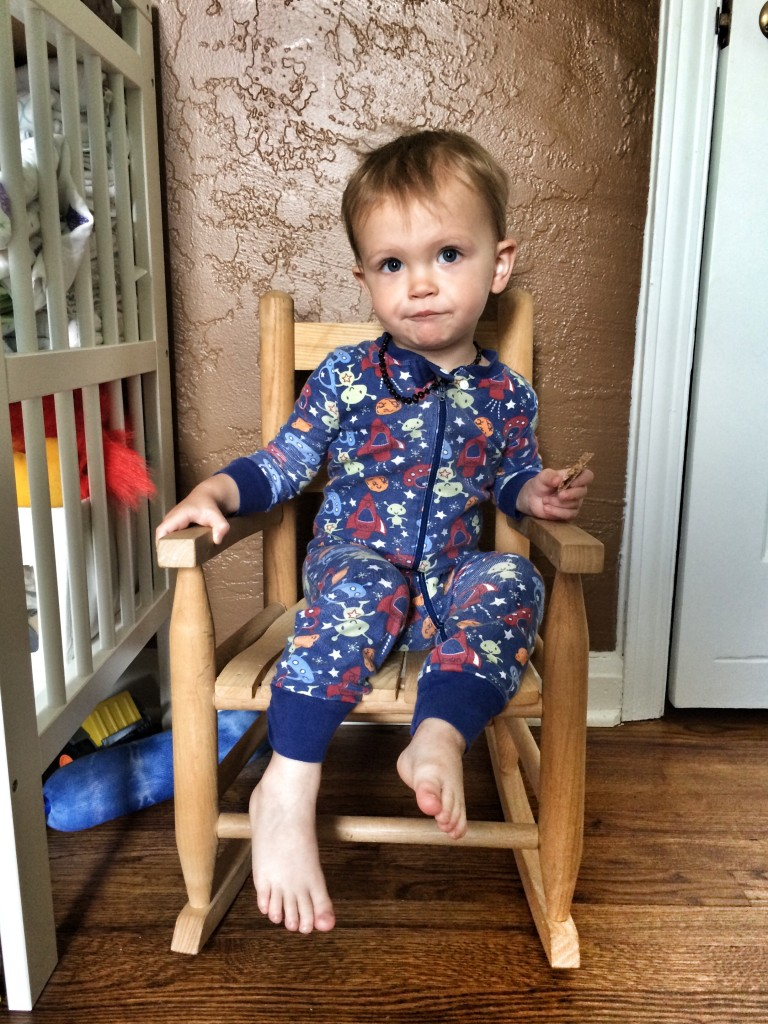 Felix in his rocking chair