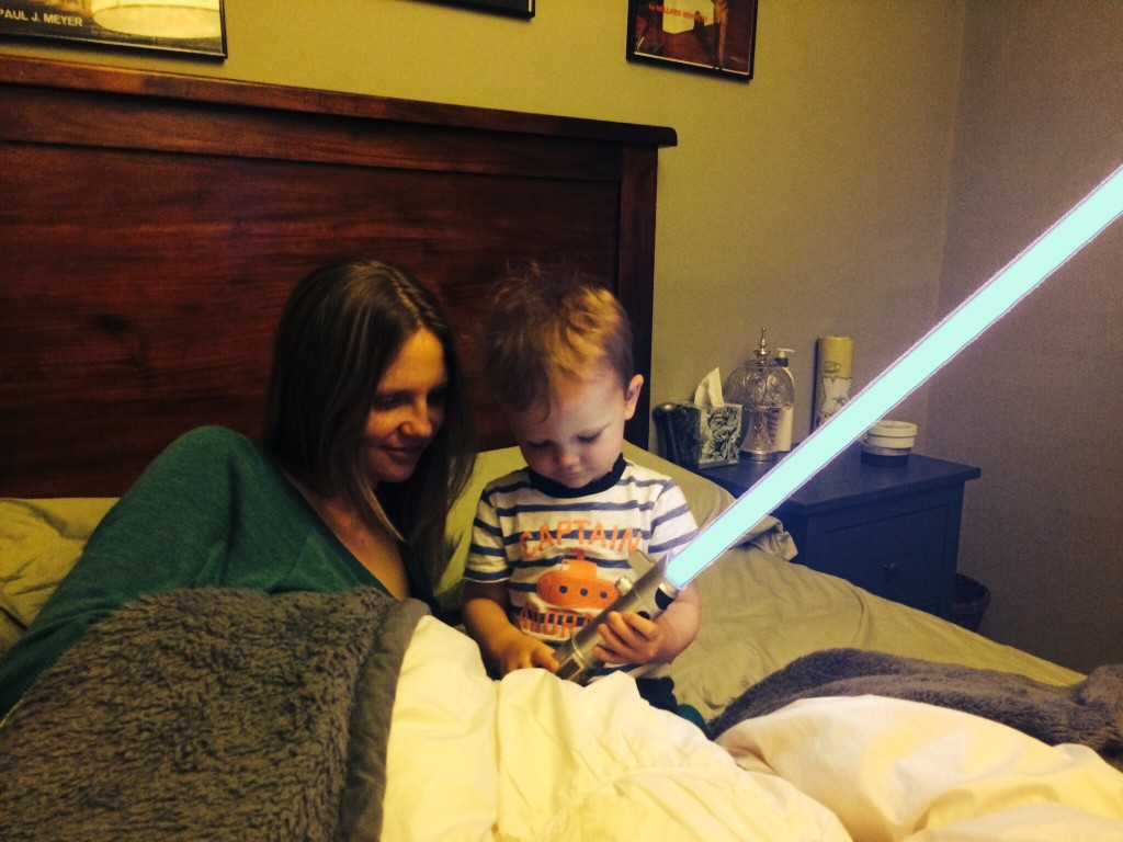 Felix, Colleen and lightsaber
