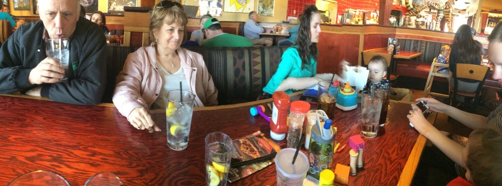 After the Zoo we went to Red Robin and ate food