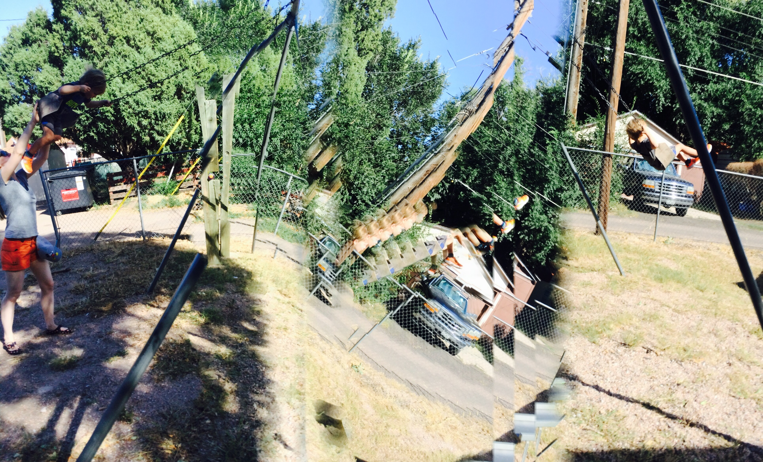 panorama while swinging