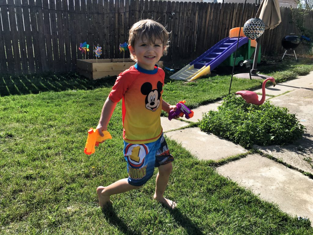 finally warm enough for a water fight!